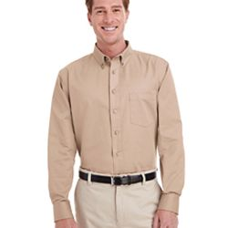 Men's Foundation 100% Cotton Long-Sleeve Twill Shirt with Teflon™ Thumbnail