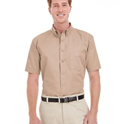 Men's Foundation 100% Cotton Short-Sleeve Twill Shirt with Teflon™ Thumbnail