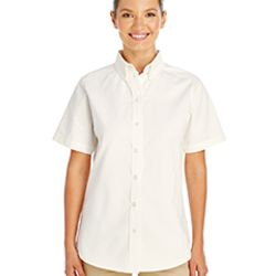 Ladies' Foundation 100% Cotton Short-Sleeve Twill Shirt with Teflon™ Thumbnail