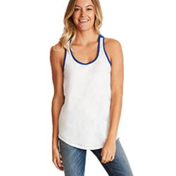 Ladies' Ideal Colorblock Racerback Tank Thumbnail