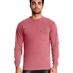 Adult Inspired Dye Long-Sleeve Crew with Pocket Thumbnail