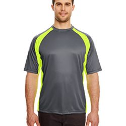 Adult Cool & Dry Sport Two-Tone Performance Interlock T-Shirt Thumbnail