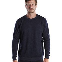 Unisex 6.5 oz. Heavyweight Loop Terry Triblend Long-Sleeve Crew Thumbnail