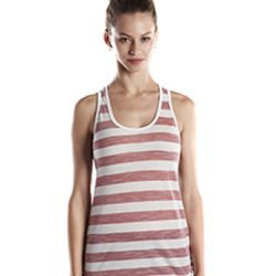 Ladies' 3.8 oz. Striped Slub Racer Tank Thumbnail