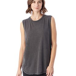 Inside Out Garment Dye Slub Sleeveless T-Shirt Thumbnail