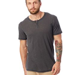 Unisex Home Team Garment Dyed Slub Henley Shirt Thumbnail