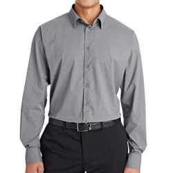 CrownLux Performance™ Men's Tonal Mini Check Shirt Thumbnail