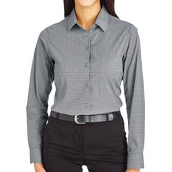 CrownLux Performance™ Ladies' Tonal Mini Check Shirt Thumbnail