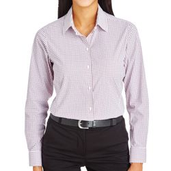 CrownLux Performance™ Ladies' Micro Windowpane Shirt Thumbnail