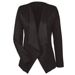 Ladies' Perfect Fit™ Draped Open Blazer Thumbnail