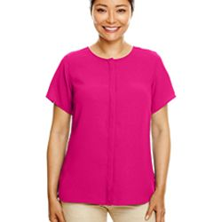 Ladies' Perfect Fit™  Short-Sleeve Crepe Blouse Thumbnail
