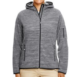Ladies' Perfect Fit™  Mélange Velvet Fleece Hooded Full-Zip Thumbnail