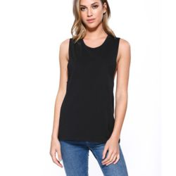 Ladies' Cotton Muscle T-Shirt Thumbnail