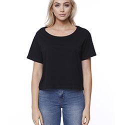 Ladies' Cotton Boxy T-Shirt Thumbnail