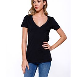 Ladies' Cotton V-Neck T-Shirt Thumbnail