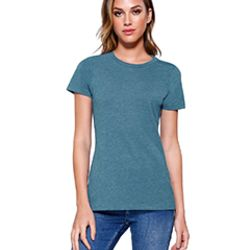 Ladies' CVC Crew Neck T-shirt Thumbnail