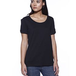 Ladies' CVC Twist Sleeve Top Thumbnail
