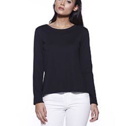 Ladies' CVC High Low Long-Sleeve T-Shirt Thumbnail