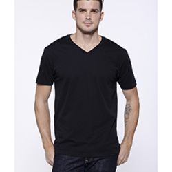 Men's CVC V-Neck T-Shirt Thumbnail