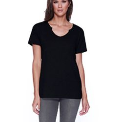 Ladies' 3.69 oz., 50% Cotton / 50% Modal Open V-Neck T-Shirt Thumbnail