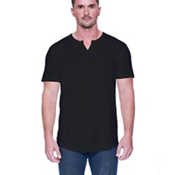 Men's 4.3 oz., CVC  Slit V-Neck T-Shirt Thumbnail