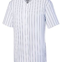 Youth Pin Strp Full Button Baseball Jersey Thumbnail
