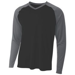 Men's Long Sleeve Strike Raglan T-Shirt Thumbnail