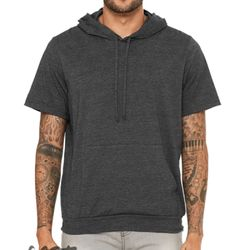 Fast Fashion Jersey Short Sleeve Hoodie Thumbnail