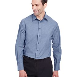 Men's Crown  Collection™ Stretch Pinpoint Chambray Shirt Thumbnail