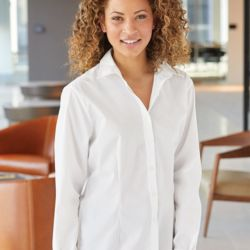 Women's Cotton/Poly Solid Point Collar Shirt Thumbnail