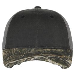Distressed Camo Mesh-Back Cap Thumbnail