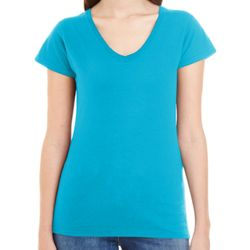 Ladies' Lightweight Fitted V-Neck T-Shirt Thumbnail