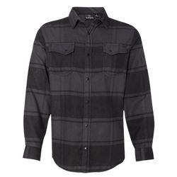 Snap Front Long Sleeve Plaid Flannel Shirt Thumbnail