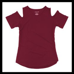 Women's Cold Shoulder Tee Thumbnail