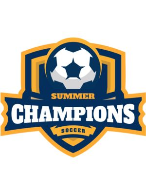 Champions Summer Soccer logo template