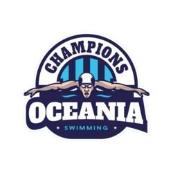 Oceania Champions Swimming logo template Thumbnail
