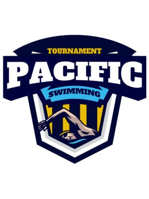 Pacific Swimming Tournament logo template