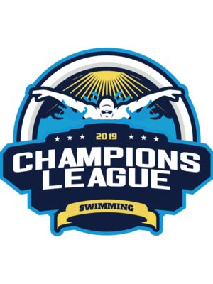 Champions League Swimming logo template