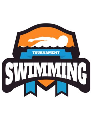 Swimming Tournament logo template 03