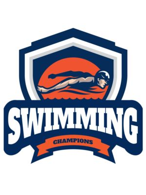 Swimming Champions logo template