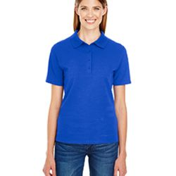 GREAT VALUE Ladies' 6.5 oz. X-Temp® Piqué Short-Sleeve Polo with Fresh IQ Thumbnail