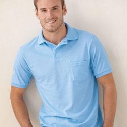 Bugdet Polo Ecosmart® Jersey Sport Shirt with Pocket Thumbnail
