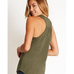 Women's CVC Gathered Racerback Tank Thumbnail
