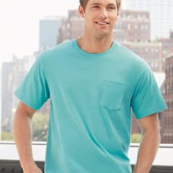 Hammer Ringspun Short Sleeve T-Shirt with a Pocket Thumbnail