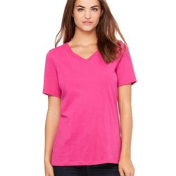 Women's Relaxed Short Sleeve Jersey V-Neck Tee Thumbnail