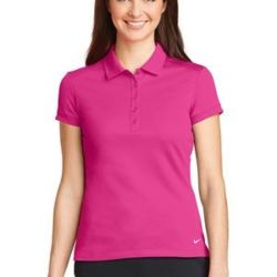NIKE Ladies Dri FIT Solid Icon Pique Modern Fit Polo Thumbnail
