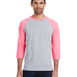 Men's 4.5 oz., 60/40 Ringspun Cotton/Polyester X-Temp® Baseball T-Shirt Thumbnail