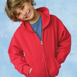 ComfortBlend® EcoSmart® Youth Full-Zip Hooded Sweatshirt Thumbnail