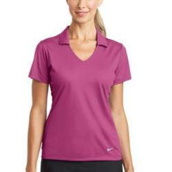 NIKE Ladies Dri FIT Vertical Mesh Polo Thumbnail