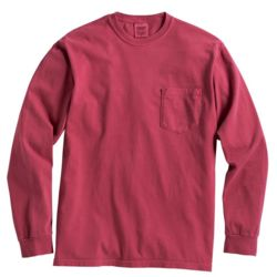 Garment Dyed Heavyweight Ringspun Long Sleeve Pocket T-Shirt Thumbnail
